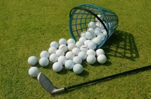 Basket Of Driving Range Golf Balls
