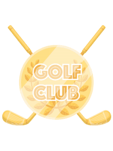 golf club icon gold